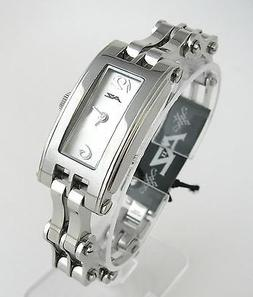 A II Z by TIMEX SILVER DIAL+BIKE CHAIN BAND WOMENS WATCH-NEW