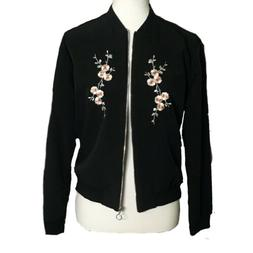 Jules & Leopold NWT Black Embroidered Floral Jacket Sz Small