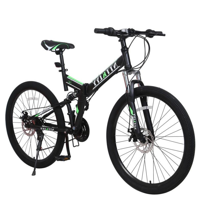 """26"""" Folding Shimano 21Speed Bicycle Front suspension MTB"""