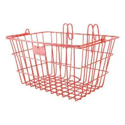New SUNLIT Bicycle Lift Off Front Basket Cherry Steel Commut