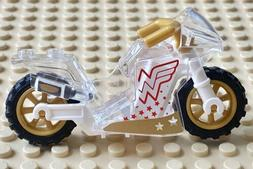 Lego Wonder Woman Motorcycle Trans Clear Gold Sport Bike DC